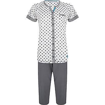 Pastunette 2071-361-6-971 Frauen Schiefer grau fleckig Baumwolle Pyjama Set