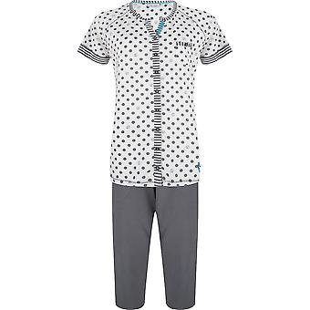 Algodón irregular gris pizarra pijama conjunto Pastunette 2071-361-6-971 mujer