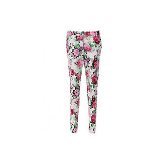 The Fashion Bible Betsy Celeb Style Floral Print Tailored Trousers In Pink
