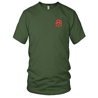 US Army 4th Air Cavalry D Company Outcasts - Low Level Hell - Vietnam War Embroidered Patch - Ladies T Shirt