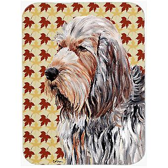 Otterhound Fall Leaves Mouse Pad, Hot Pad or Trivet