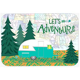 Let's Adventure Glamping Trailer Mouse Pad, Hot Pad or Trivet