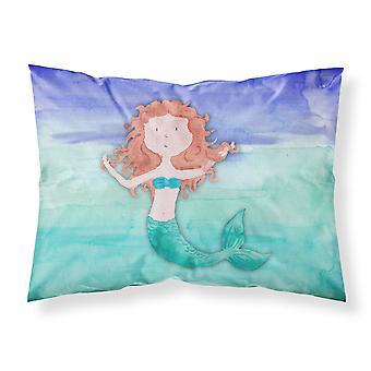 Ginger Mermaid Watercolor Fabric Standard Pillowcase