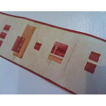 Red Orange Gold Wallpaper Border Opera Arthouse Metallic Finish Heavyweight
