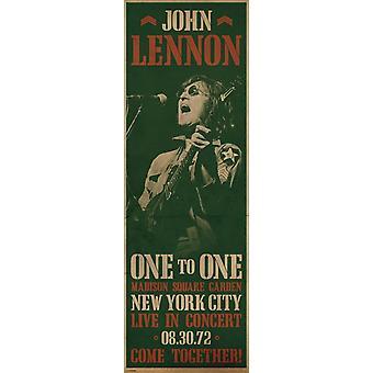 John Lennon - konsert - dörr Poster affisch Skriv