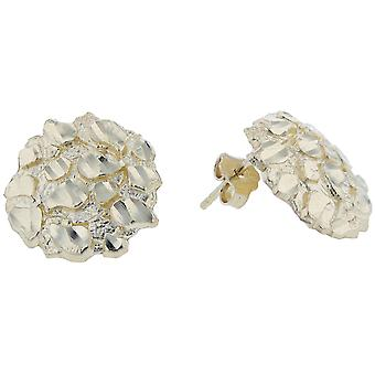 10k Yellow Gold Round Nugget Stud Earring