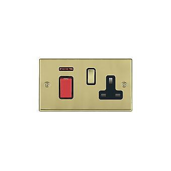 Hamilton Litestat Hartland Polished Brass 45DP + Neon+SS1 PB/Red/BL