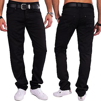 Shining men's pants ELIJAH coated denim slim fit trouser of jeans style