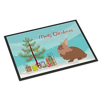 Lionhead Rabbit Christmas Indoor or Outdoor Mat 24x36