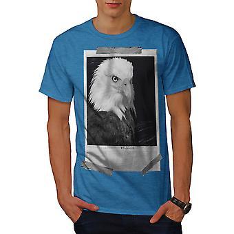 Bald Eagle Men Royal BlueT-shirt | Wellcoda