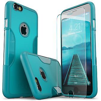 SaharaCase® iPhone 6/6s más Oasis turquesa caso, clásico paquete Kit de protección con vidrio templado de ZeroDamage®