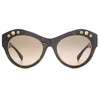Versace Rock Ring Cateye Sunglasses In Havana