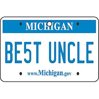 Michigan - Best Uncle License Plate Car Air Freshener