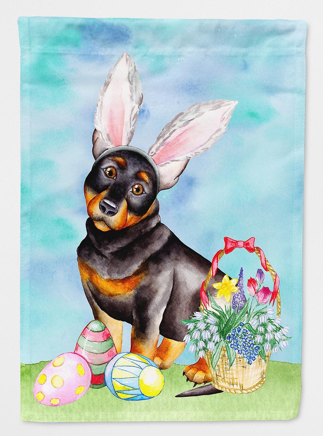 Lancashire Heeler Easter Bunny drapeau Taille maison du canevas