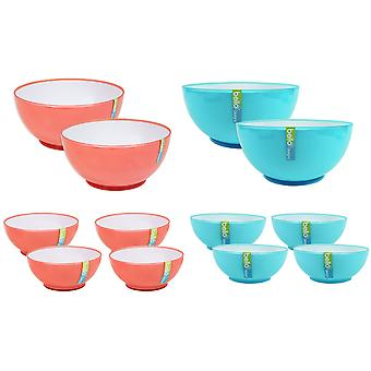 Small Bowls Set Outdoor Dining BBQ Picnic Dinnerware Camping Plastic Bowls
