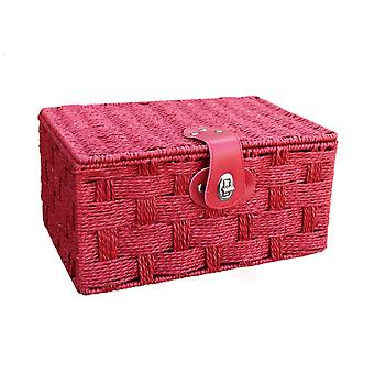 Small Red Paper Rope Hamper Basket