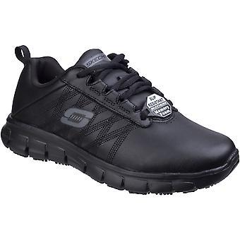 Skechers Womens/Dames Track zeker Erath Slip Resistant lederen schoenen