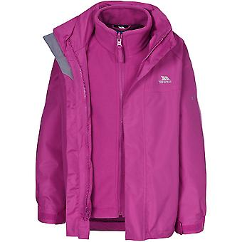Trespass Boys Girls Skydive Waterproof Windproof 3 in 1 Jacket