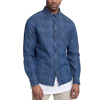 Urban classics - PRINTED CHECK FLANNEL shirt washed