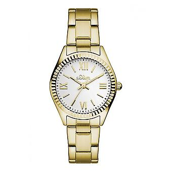 s.Oliver ladies watch wrist watch SO-3083-MQ gold
