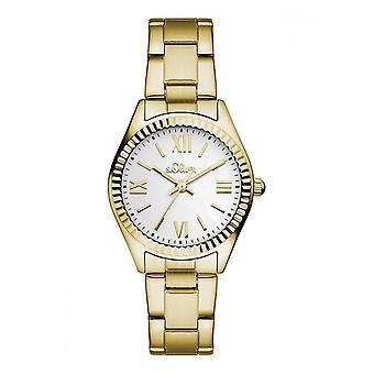 s.Oliver dameshorloge pols horloge SO-3083-MQ goud