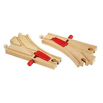 BRIO Mechanical Switches (Points) 33344 Wooden Railway Accessory