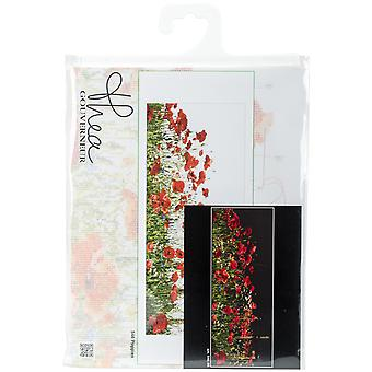 Poppies On Aida Counted Cross Stitch Kit-22