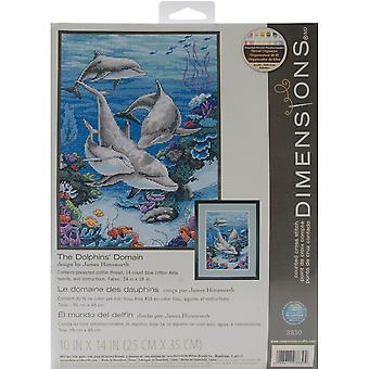 The Dolphins' Domain Counted Cross Stitch Kit-10