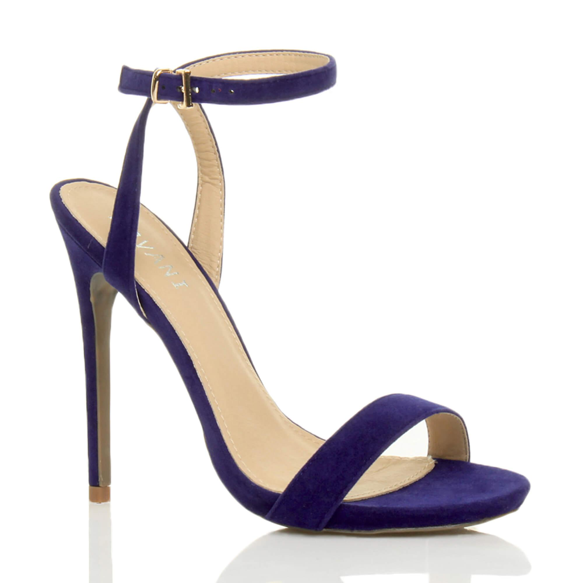 Ajvani womens high heel platform strappy ankle strap barely there strappy platform sandals shoes-Fashion-Man's/Woman's e15aed
