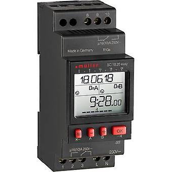 Müller SC 18,20 fácil NFC DIN rail montaje temporizador 230 V 16 A/250 V