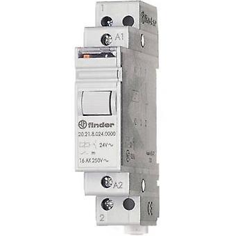 Finder 20.21.8.024.4000 16A Modular Step Relay 20.21.8.024.4000 24 V AC SPST-NO 16 A (AC1) 4000VA/(AC15) 750 VA