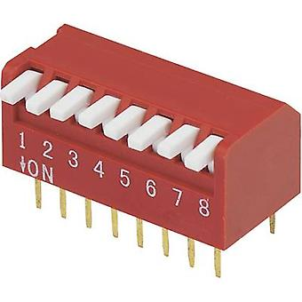 DIP switch Number of pins 8 Piano-type TRU COMPONENTS DP-08 1 pc(s)