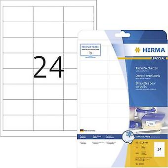 Herma etiquetas 4389 66 x 33.8 mm papel blanco