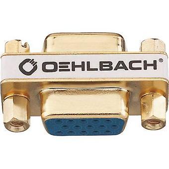 Oehlbach VGA Adapter [1 x VGA uttag - 1 x VGA socket] guld guldpläterade kontakter