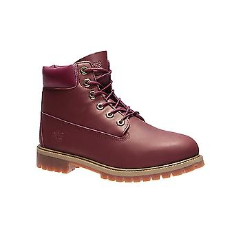 Timberland 6 inch premium junior real leather boots Red