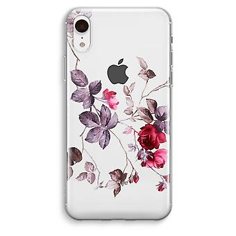 iPhone XR Transparant Case - Pretty flowers