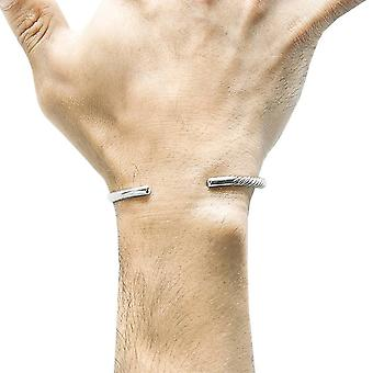 Anchor and Crew Bryon Quater Rope Bangle - Silver
