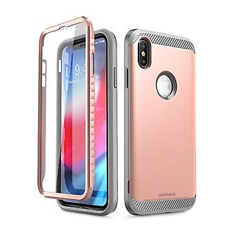 iPhone Xs Max Case, [UB Neo Series] Full-Body Protective with Built-in Screen Protector Dual Layer Cover 2018 (RoseGold)