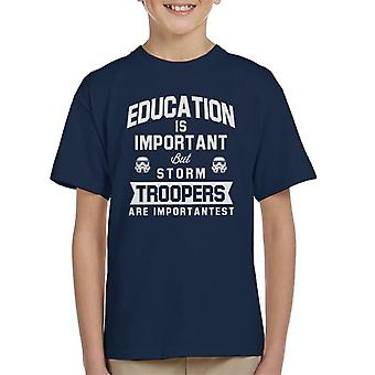 Original Stormtrooper Education Is Important Kid's T-Shirt