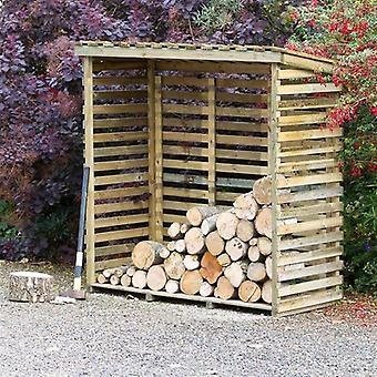 Zest 4 Leisure Large Wooden Pressure Treated Open Wall Log Store
