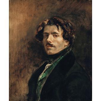 Portrait of the Artist, Eugene Delacroix, 65x55cm