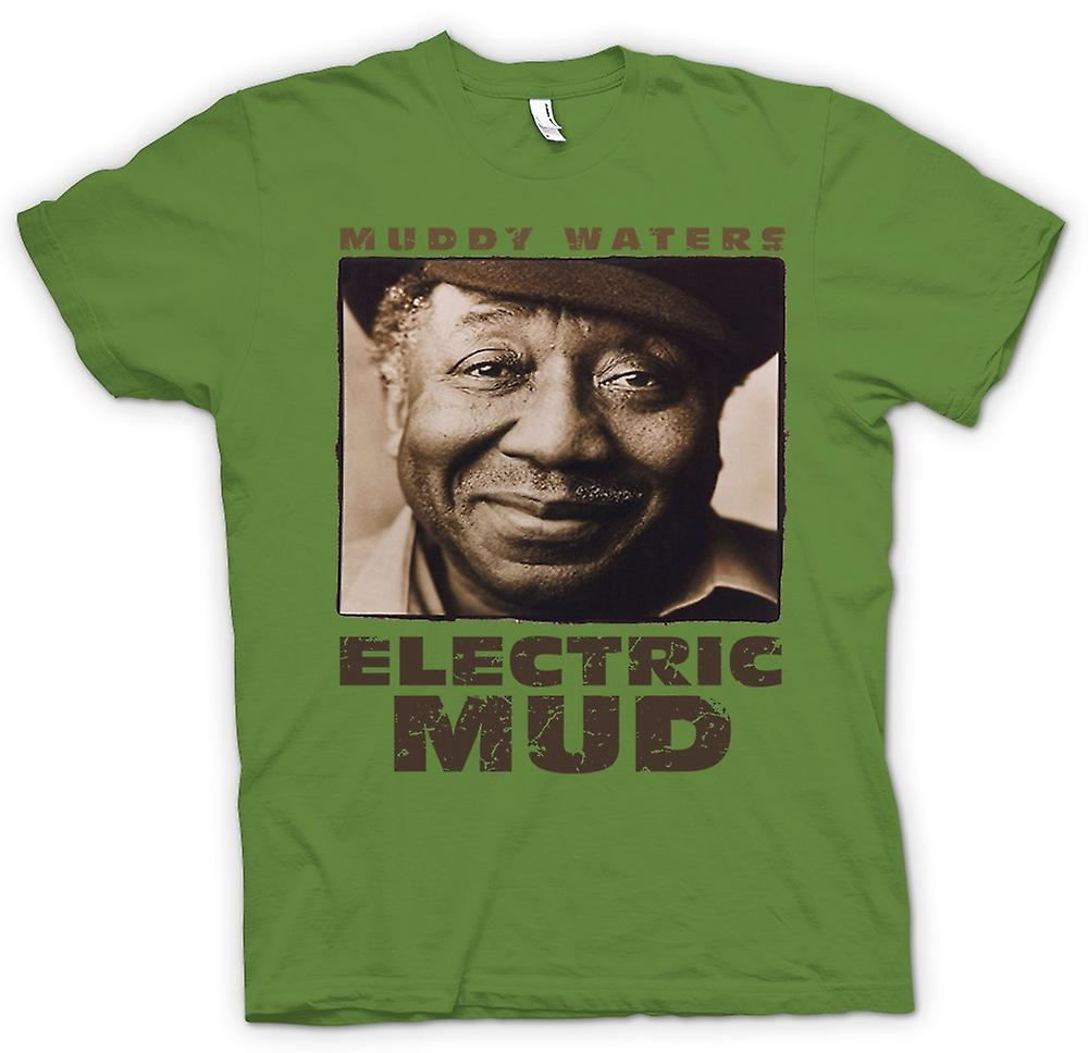 Mens t-shirt-Muddy Waters Electric Mud Blues - chitarra - icona