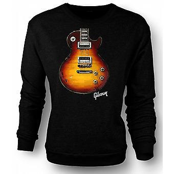 Mens Sweatshirt Gibson Les Paul gitar gull - musikk