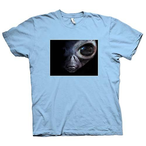 Mens T-shirt - Alien - UFO - Grey