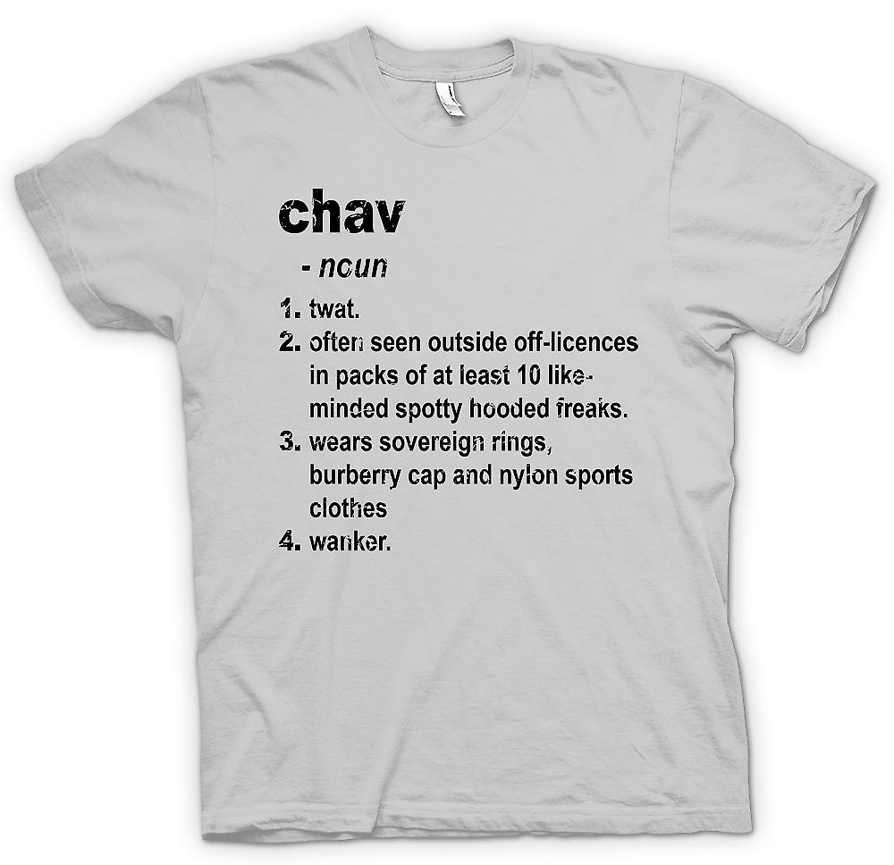 Mens t-shirt - Defination Chav - brillantemente divertente dizionario
