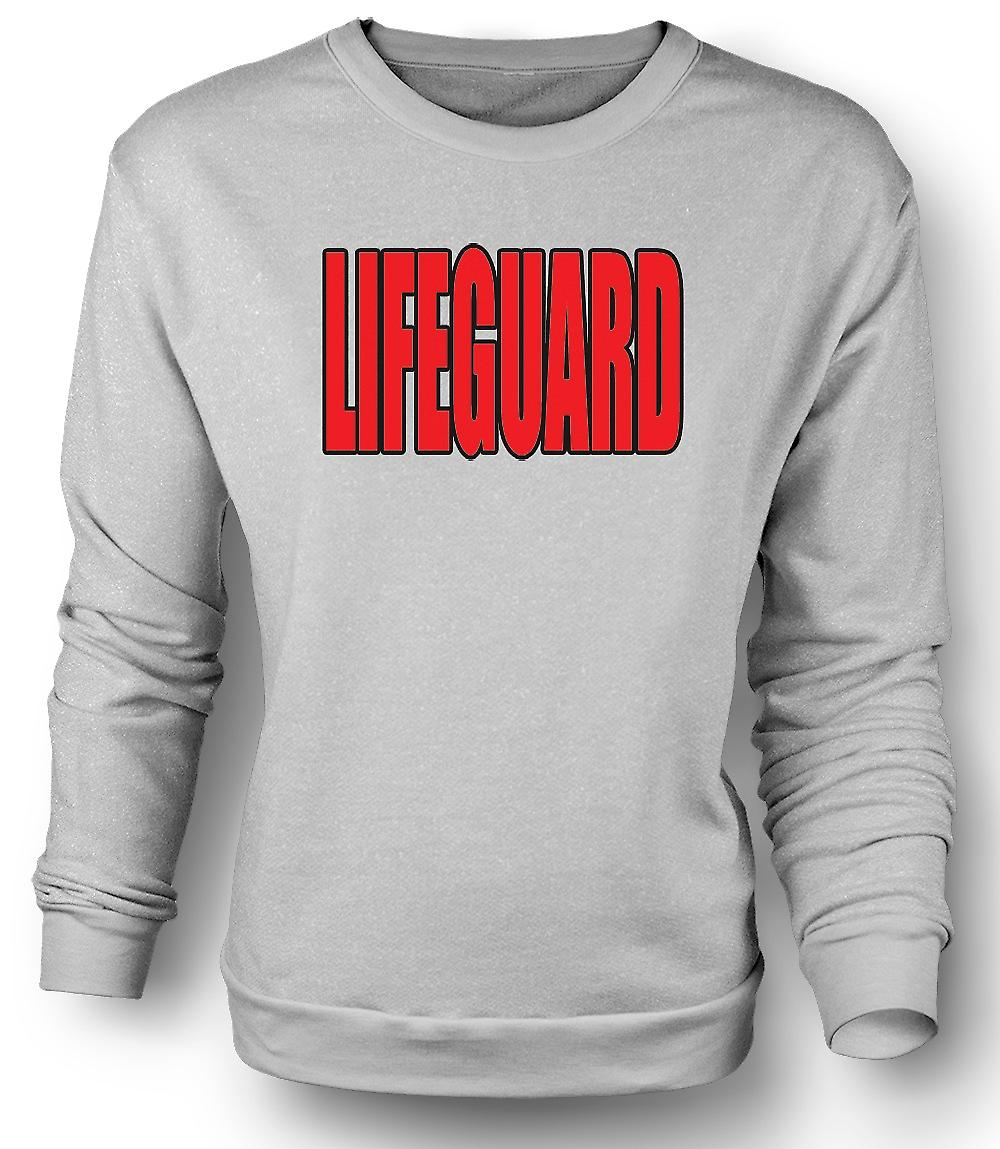 Mens Sweatshirt Lifeguard - rolig humor