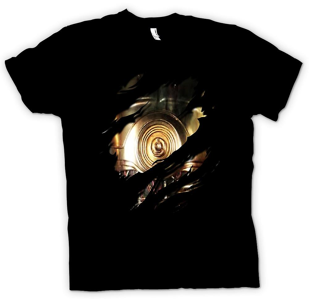 Kids T-shirt - C3PO Star Wars Inspired Ripped Design