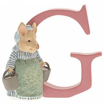 Beatrix Potter Alphabet Letter G Aunt Pettitoes Figurine
