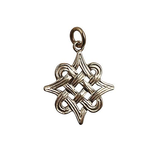 9ct Gold 23x23mm Celtic knot Pendant