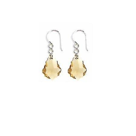 Bridesmaid Crystal Baroque Lite Colorado Crystal Silver 92.5 Earrings